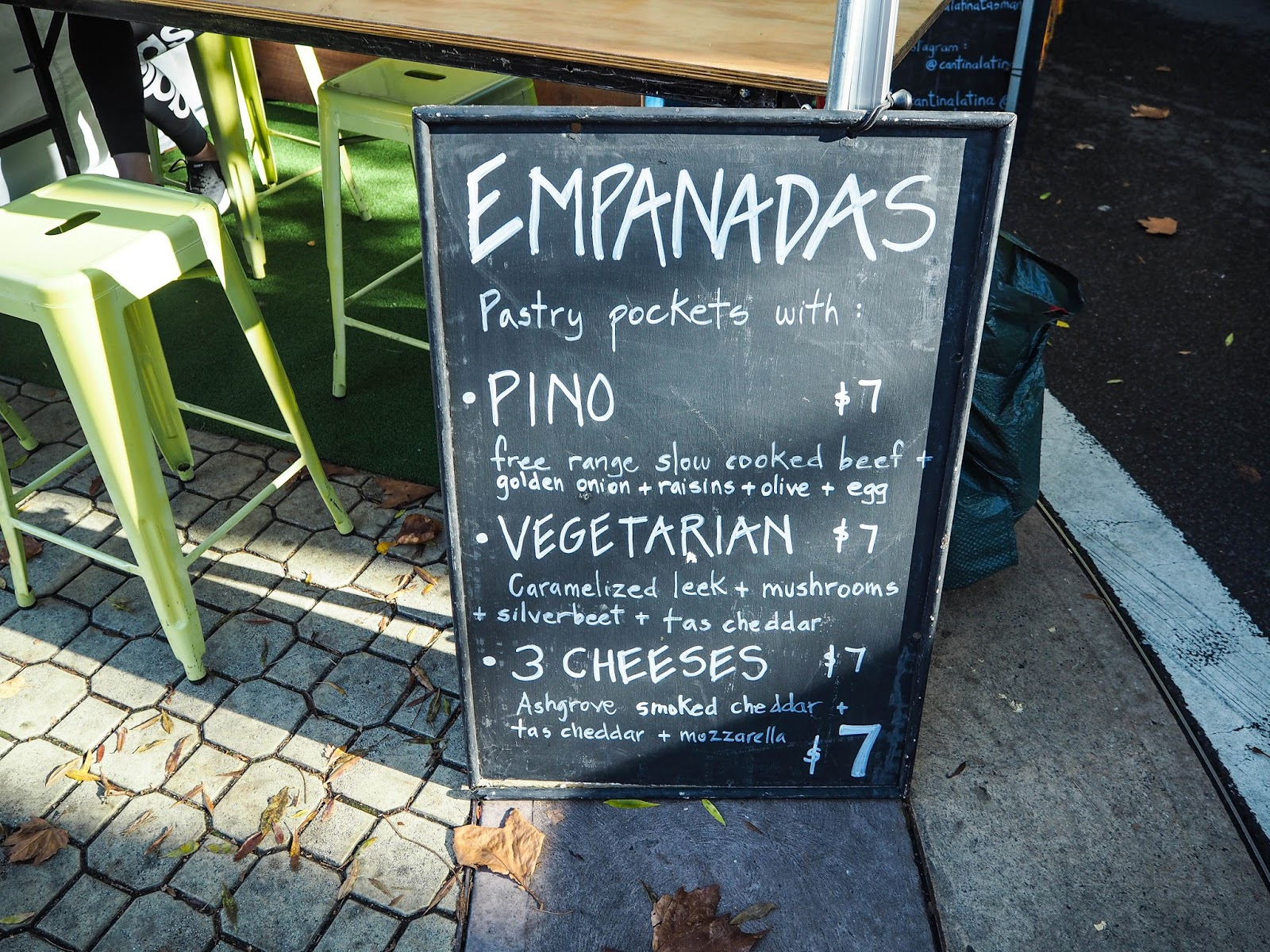 Cantina Latina sign for empanadas