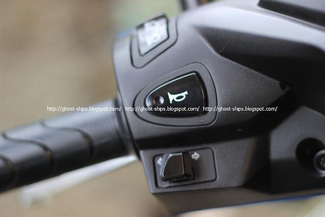 Posisi tombol klakson dan lampu sen pada All New Honda BeAT Sporty eSP CBS