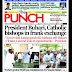 NIGERIA NEWSPAPERS: TODAY'S THE PUNCH NEWSPAPER HEADLINES [9TH FEBRUARY , 2018].