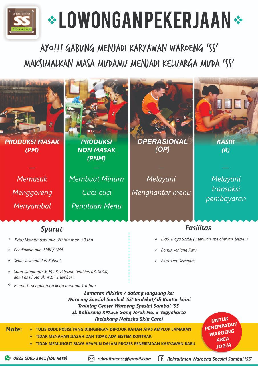Lowongan Kerja Yogyakarta 2019 : lowongan, kerja, yogyakarta, Lowongan, Kerja, Waroeng, (Jogja), Terbaru, Indonesia
