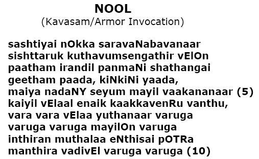 Kanda sashti kavasam lyrics meaning
