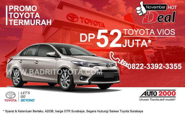 Paket Keren Toyota Vios DP 52 Juta, Promo Toyota Surabaya