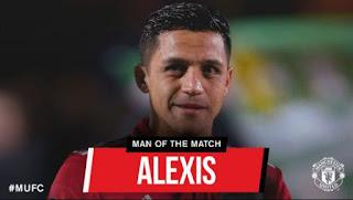 Alexis Sanchez Man of the Match Laga Yeovil vs Manchester United 0-4