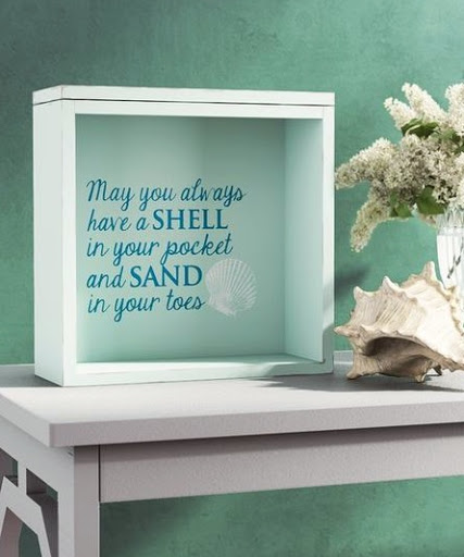 Top Load Deep Shadow Box with Quote