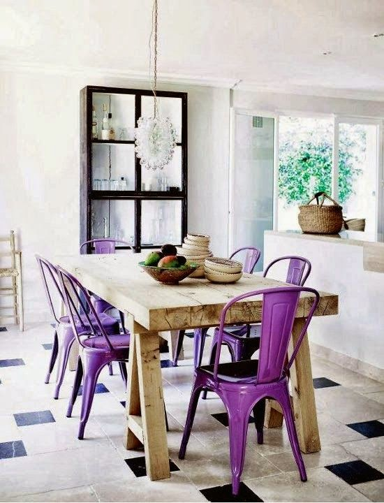 decor roxo