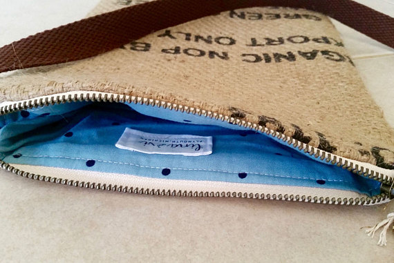 Certified Burlap Crossbody tote bag by Lina and Vi, Plymouth MI