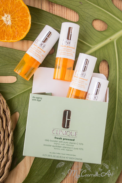 Clinique Fresh Pressed con 10% de Vitamina C pura: booster y limpiador en polvo.