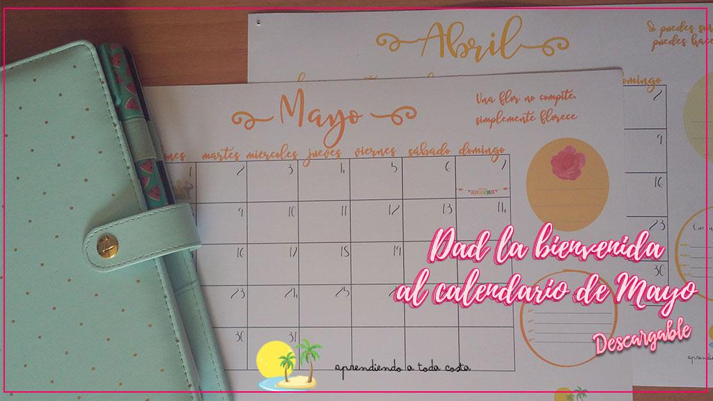 Calendario de Mayo Descargable