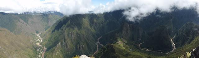 Machupicchu, vistas del valle desde la montaña