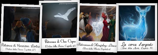 I Patronus di Hermione, Cho, Kingsley e Piton
