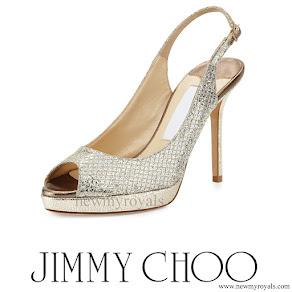 Princess Madeleine wore Jimmy Choo Nova Glitter Platform Slingback Sandal
