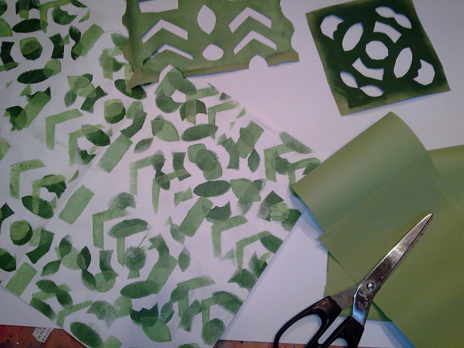Vaak Welkom op Anja's blog: Zelf een sjabloon maken en je eigen scrappapier KV72