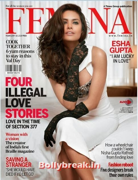 , Esha Gupta on Cover of Femina - Feb 2014