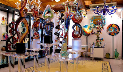 Glass work in Morano Venice