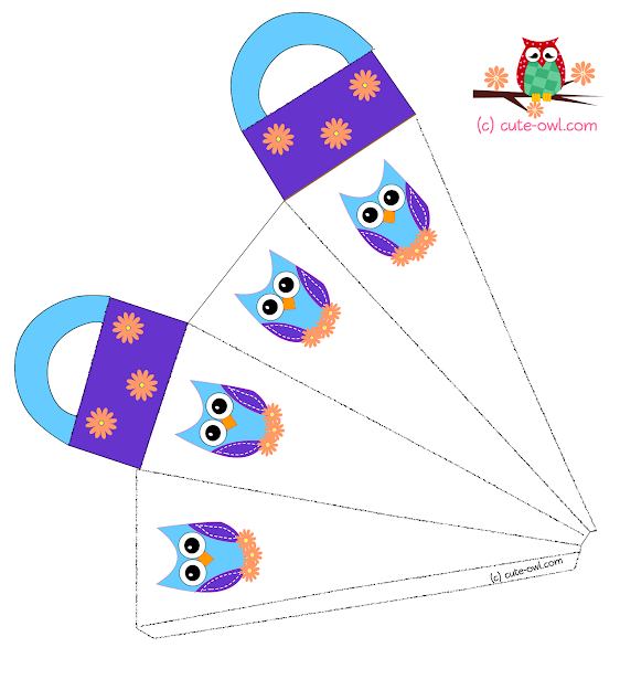 Adorable Party Favor Bag Featuring Cute Owl