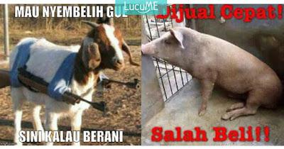 20 Meme 'Pesan Terakhir Kambing & Sapi' Ini Ceriakan Idul Adhamu
