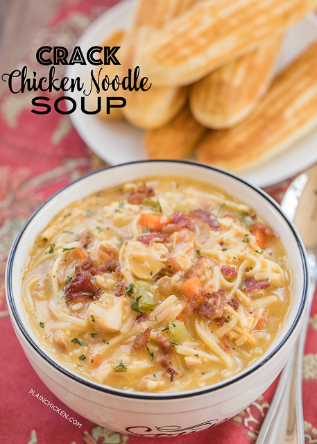 crack chicken noodle soup written recipe http //po.st/ham5yh