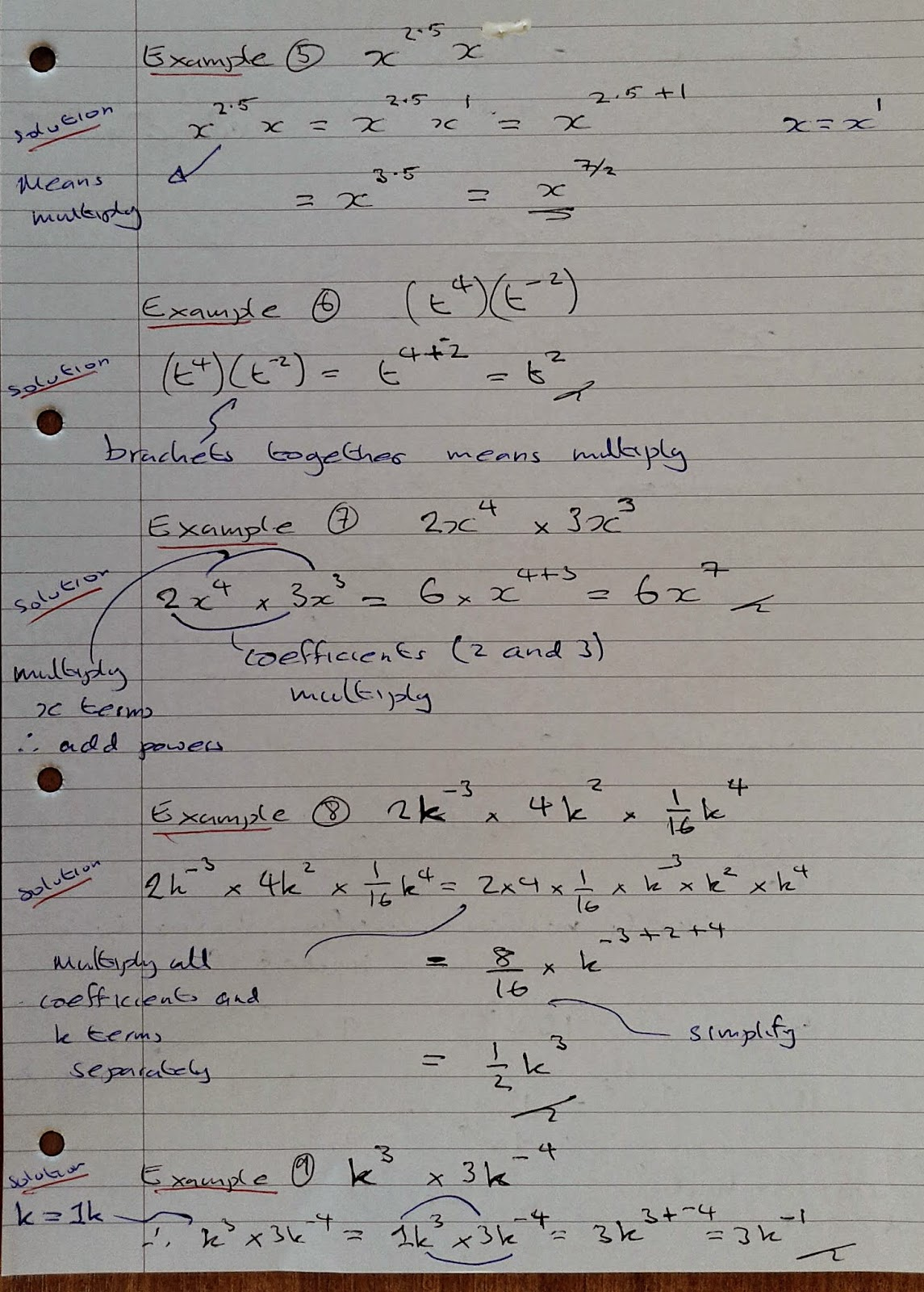 A Level Maths Notes As Indices Mixed Algebra Examples Part 1