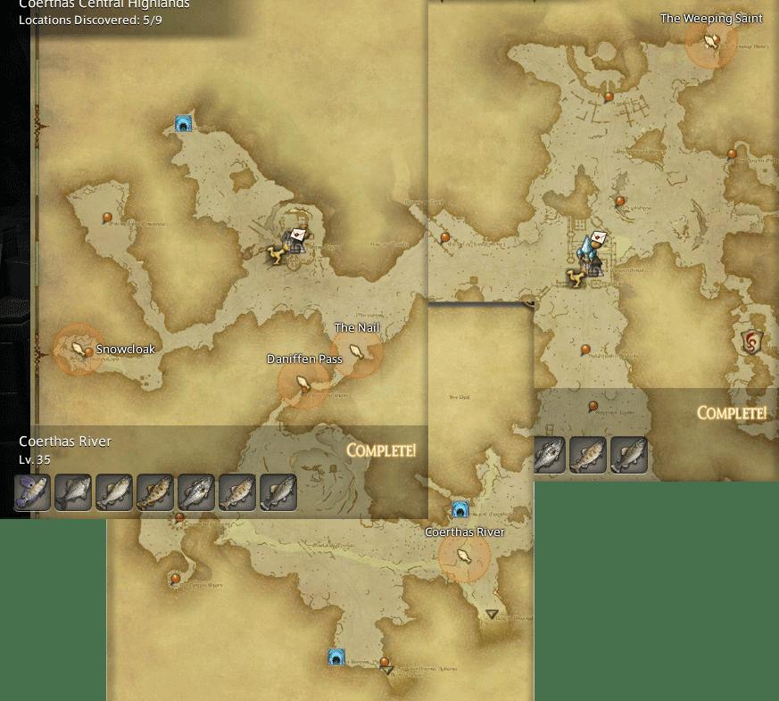 Final Fantasy 14 Fishing Spot Maps & Locations - GamingReality