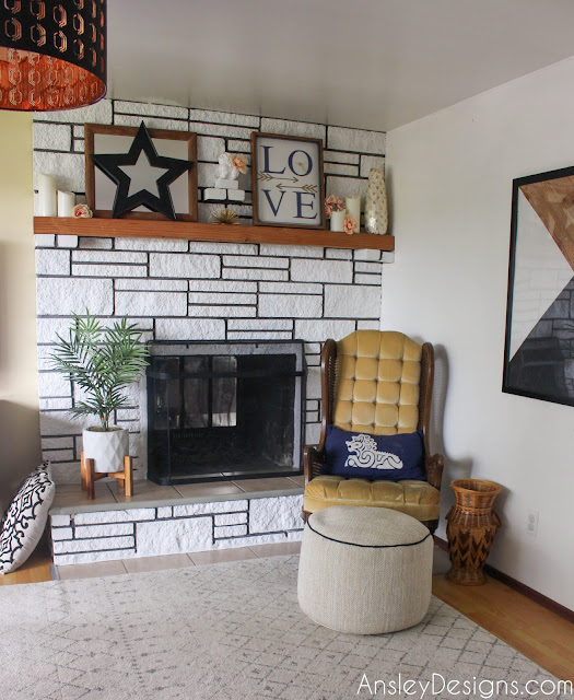 DIY white painted fireplace!