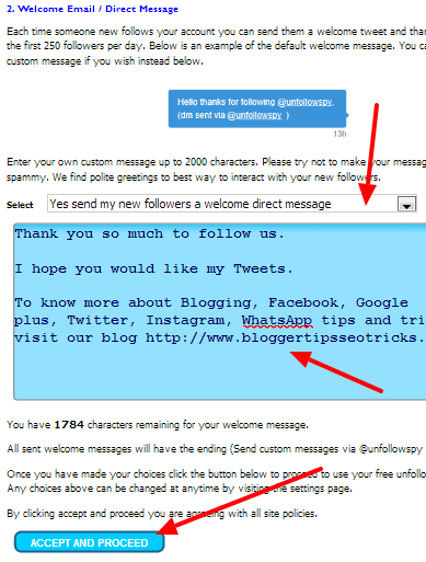 how to automatically send message to new twitter follower