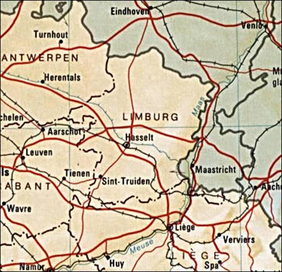 Kaart Belgie Vakantie Kaart Limburg En Hasselt Vakantie Belgie