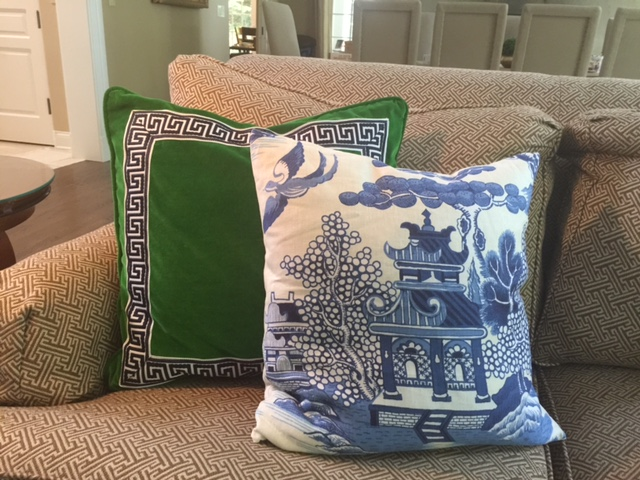 Green Velvet W Greek Key Trim From Etsy S Southern Shades Lee Jofa Willow Pattern Chinoiserie Aurelia6311