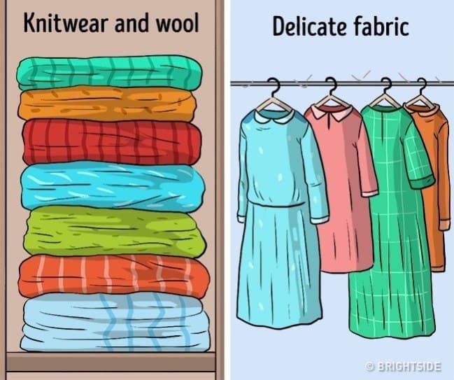 4923d1468e0b6 10 أخطاء نفعلها دون وعي عند تخزين الملابس! اعرف الطريقة الصحيحة ...