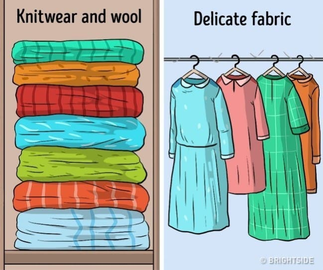 4643c0c9bb1c7 10 أخطاء نفعلها دون وعي عند تخزين الملابس! اعرف الطريقة الصحيحة ...