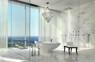 Spectacular White Marble Bathroom
