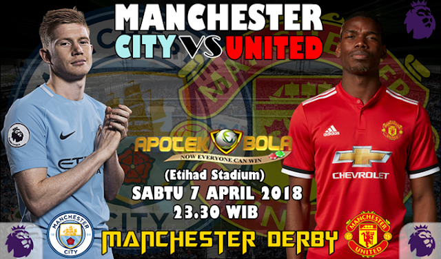 Prediksi Manchester City vs Manchester United 7 April 2018