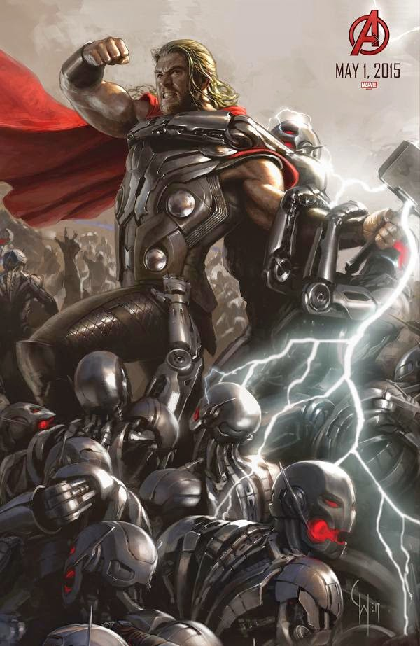 Chris Hemsworth as Thor in Avengers: Age of Ultron