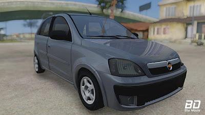 Corsa Hatch 2008 para GTA San Andreas - Frente