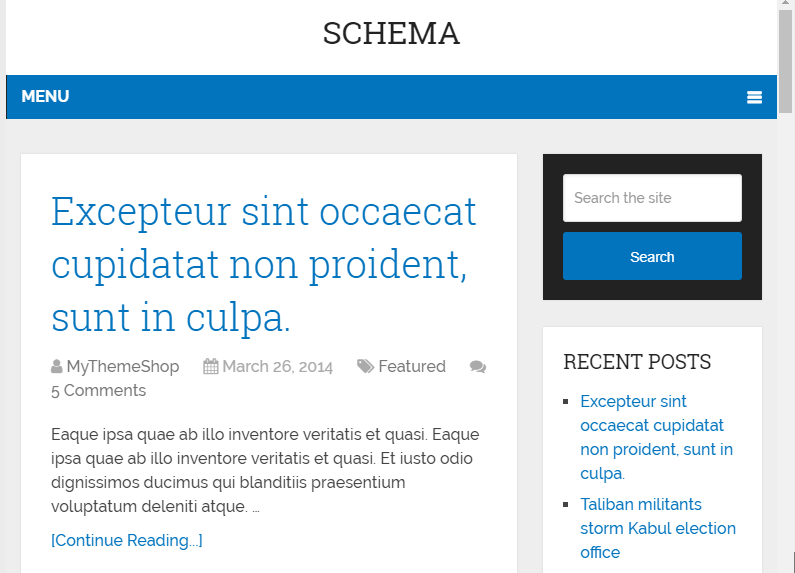 Schema SEO optimized theme