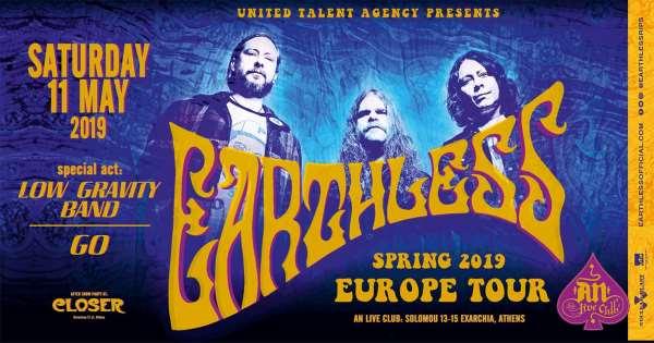 EARTHLESS: Σάββατο 11 Μαΐου @ An Club - Αλλαγή Opening act