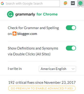 Free Grammarly browser extension for pc