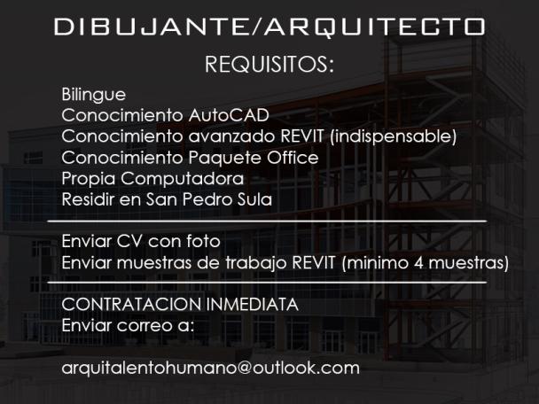 Dibujante Arquitecto San Pedro Sula