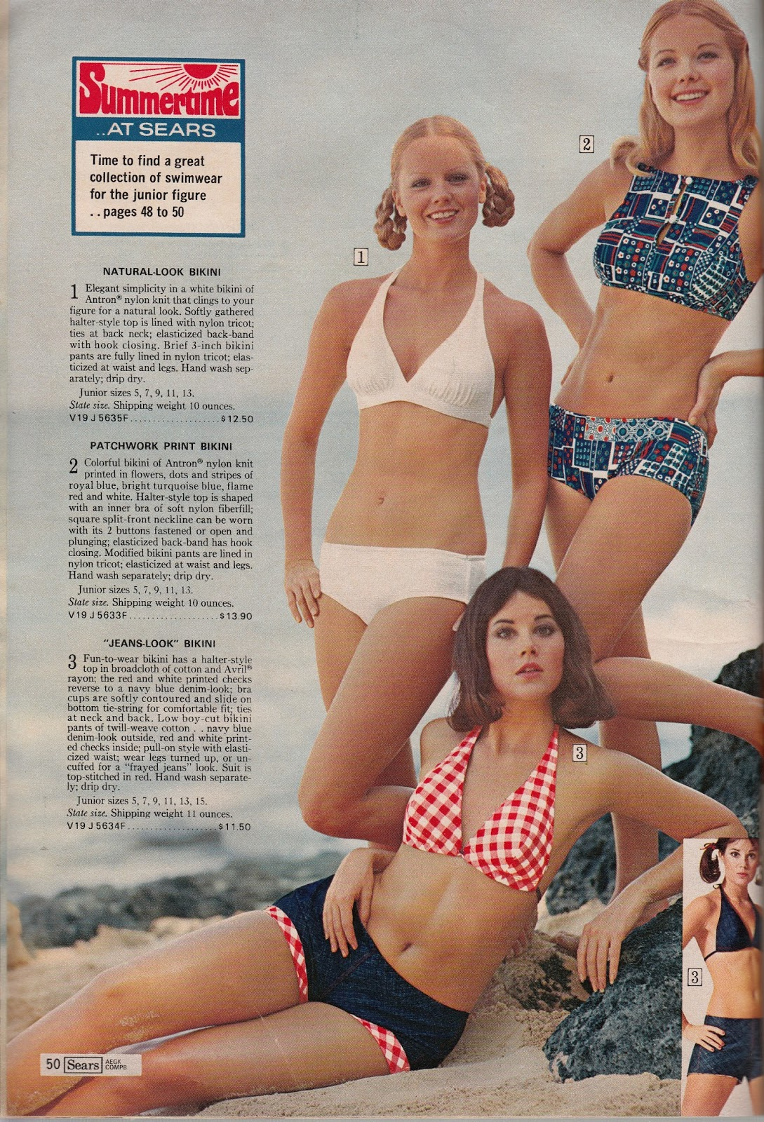 54783fdb8fd3b Sizzling at the Shore in Sears Swimsuits - Part 3!