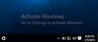 activate windows pop up