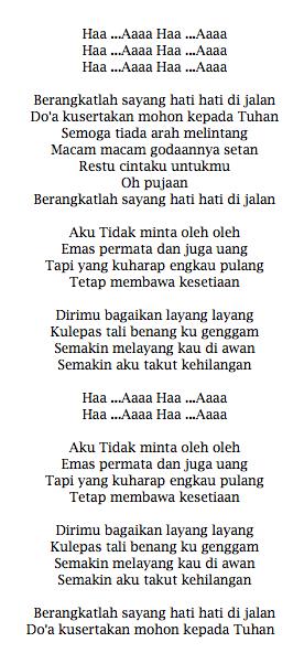 Lirik Lagu Rita Sugiarto Oleh-Oleh