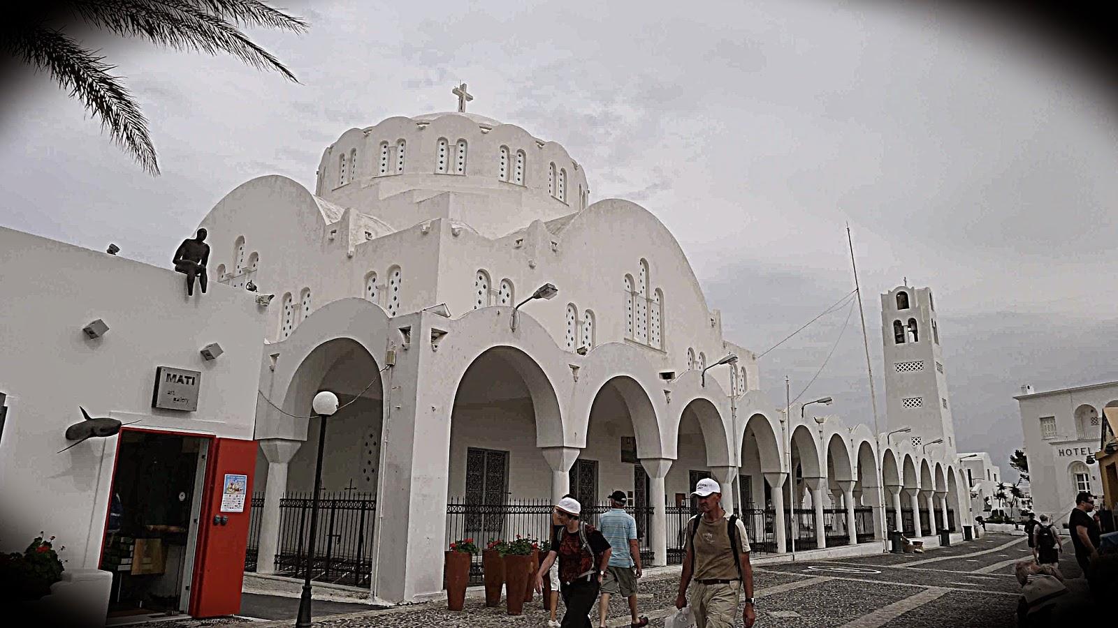 White Orthodox Cathedral of Santorini