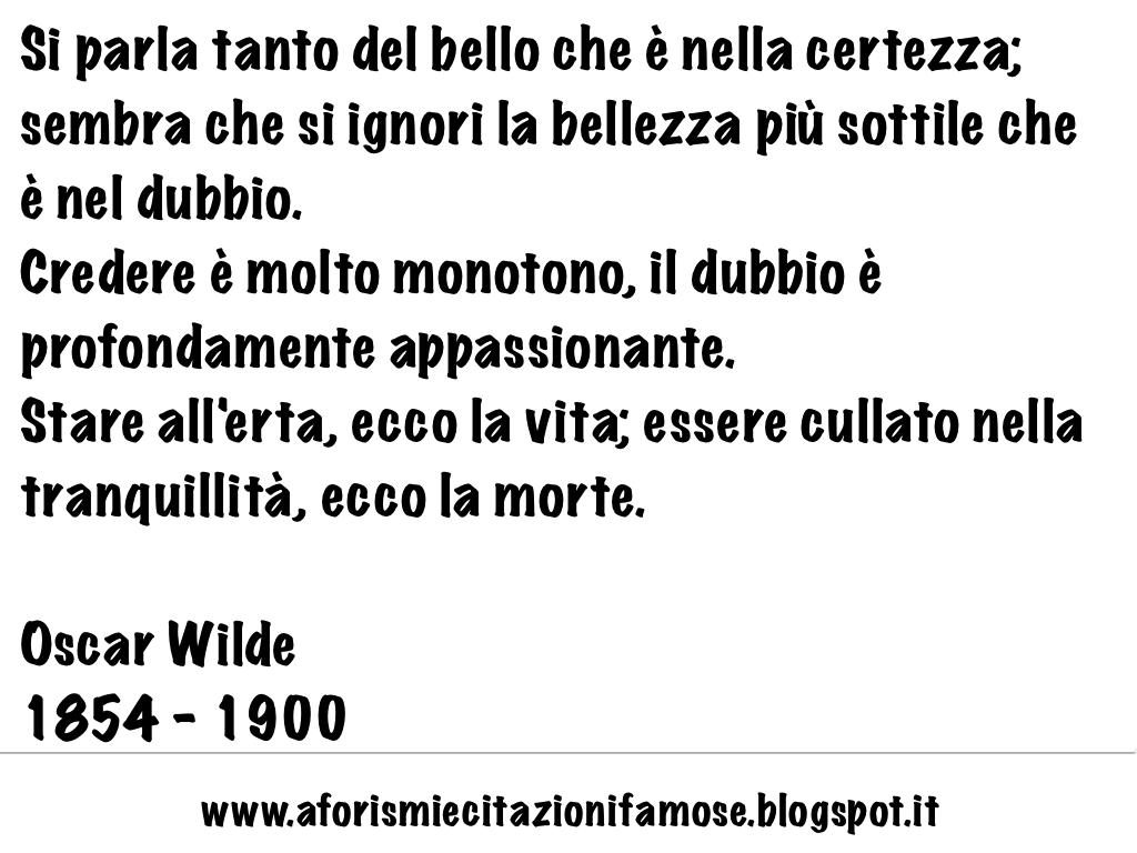 Frasi Famose Sulla Vita Oscar Wilde
