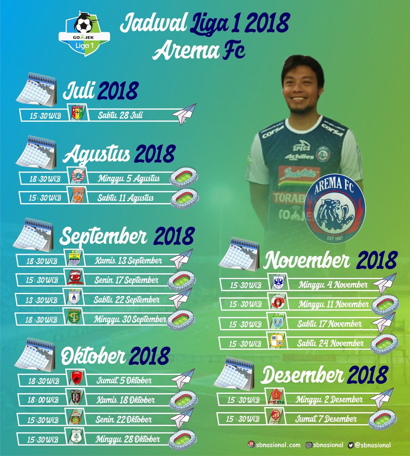 Arema Fc Vs Persebaya: Jadwal Lengkap Arema Fc Putaran Dua Liga 1 2018