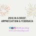 2018 IN A BRIEF: APPRECIATION & FEEDBACK