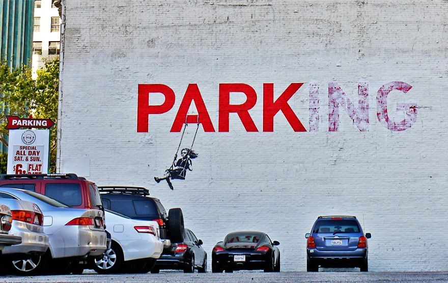 These 30+ Street Art Images Testify Uncomfortable Truths - 'Parking'