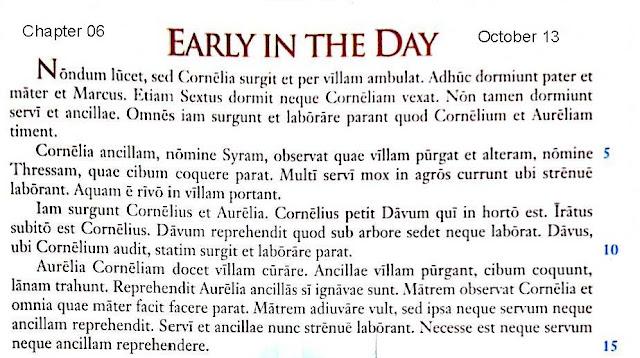 2018 2019 Latin I October 26 Chapter 06 Ecce Romani