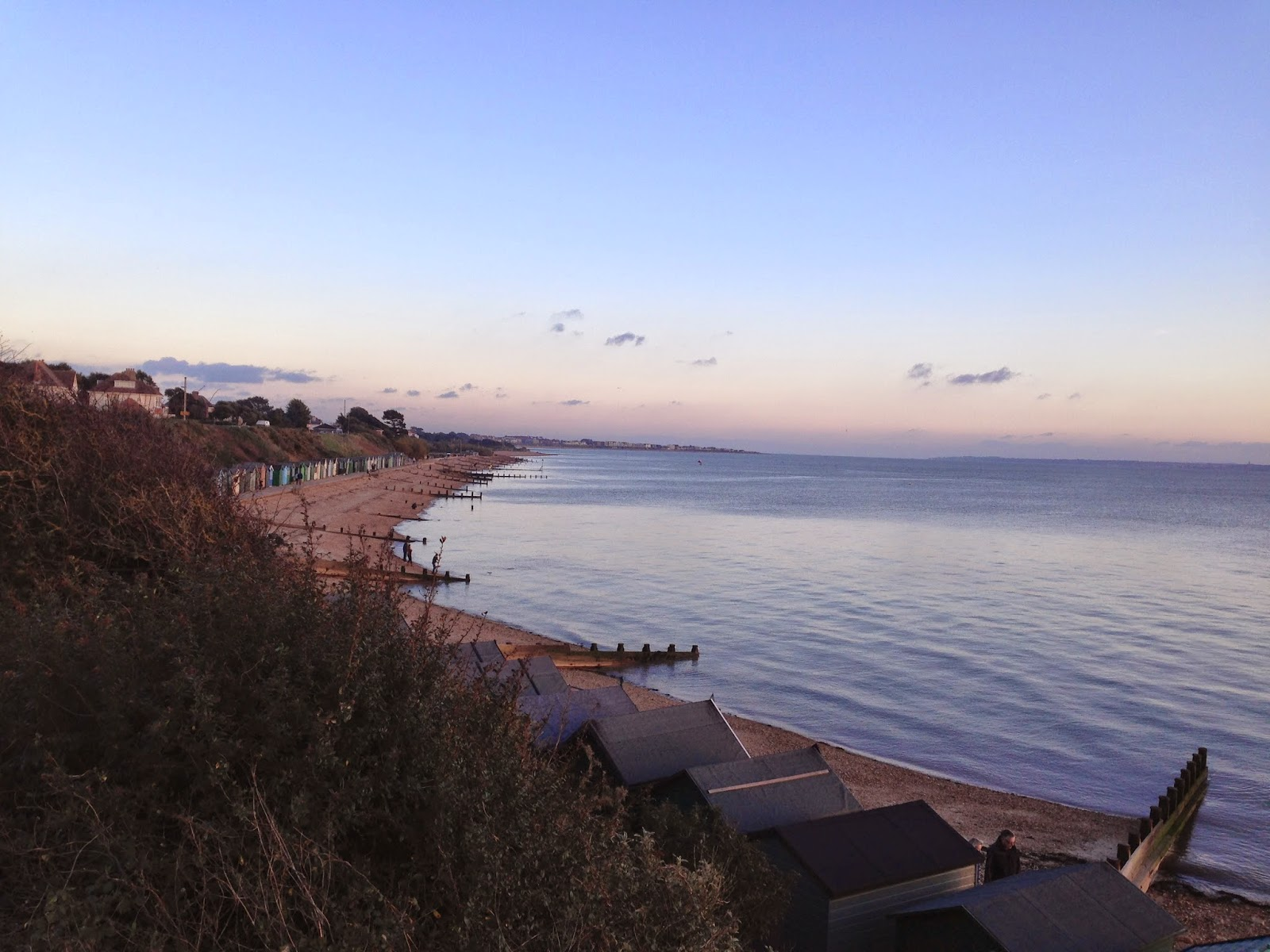 Hill Head beach looking towards Lee-on-the-Solent