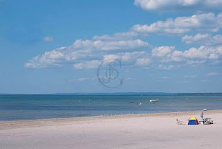 The empty sands of Wasaga Beach, Ontario, in September.