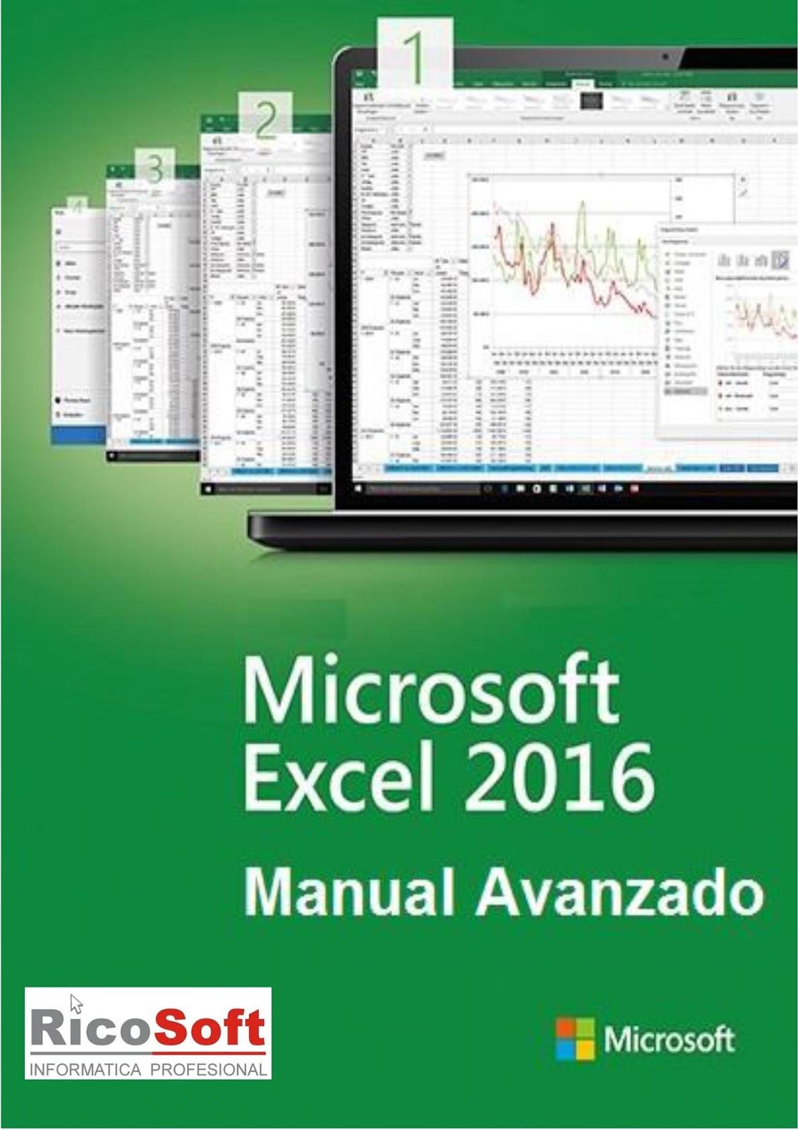 Microsoft excel manual de 2016 pdf