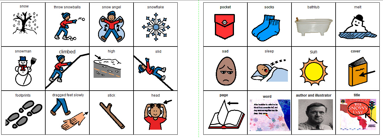 This is a photo of The Snowy Day Printable for first grade